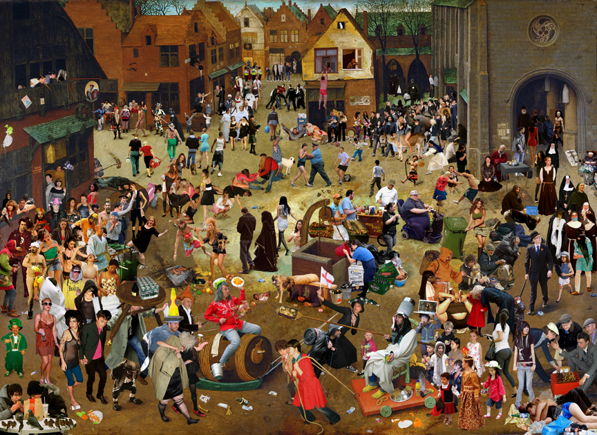 "After ""The Fight Between Carnival and Lent' by Pieter Breugel the Elder"